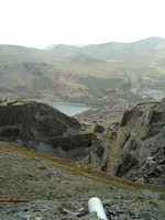 View towards Llyn Peris across on of the workings on the Garret side