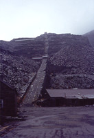 A view of the main incline circa 1973 with the mill area still virtually intact prior to the building of the power station.