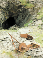 Entrance to the underground incline into Cwt y Bugail mine