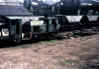 Sentinel 4 wheeled geared loco works 9535 of 1952 at Silverdale Colliery