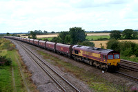EWS 66093 on coal train near Colton Junction York 14/08/12