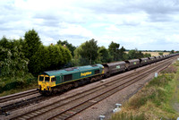Freightliner Class 66 66528 near Colton Junction Leeds.14/08/12