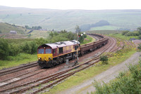EWS 66 66250 on infrastructure train at Garsdale.15/08/12