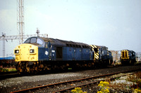 Class 40. renumbered into the 97xxxx series for departmental work, at Speke, Liverpool.
