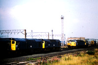 A selection of locos stabled at Speke, Liverpool