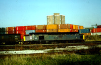 Class 40 shunting at Alexandra Dock on the Bootle branch, Liverpool