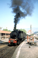 Mallet 2-4-6-0 tank E216 departing from Regua