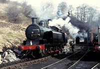 Ex Lambton 0-6-2 tank at Grosmont shed on North York Moors Railway