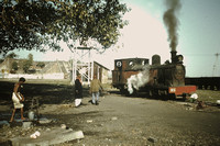 A peaceful scene at Dehri on Sone with No 6, an 0-6-4 tank built by Avonside in 1926,works number 1982.