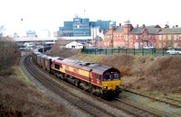 DBS 66125 at Warrington Low Level on gypsum empties.08/02/12