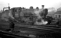 Ivatt 2-6-0 46516 at Oswestry 1963