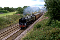 70013 'Oliver Cromwell' at Guilden Sutton Chester Summer 2011