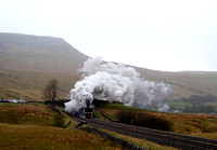 34067 'Tangmere' Climbing out of Mallerstang on the CME 12/04/12