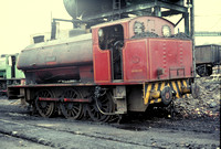 'Warrior'  [Hunslet 3823 0f 1954] at Bickershaw shed