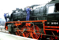Last minute preparations to BR35 2-6-2 at Nossen, East Germany