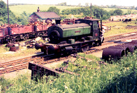 Andrew Barclay 0-4-0 saddle tank at Holwell.