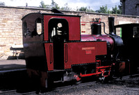 South Tynedale Railway 'Helen Kathryn', built by Henschel of Germany in 1948, in Alston station. 1994