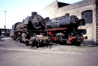 BR 42 and 43 for comparison at Rheine depot.