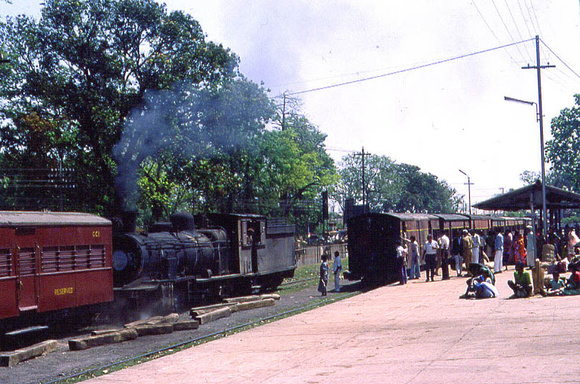 WG on the broad gauge and CC pacific on the narrow gauge at Ranchi 1982