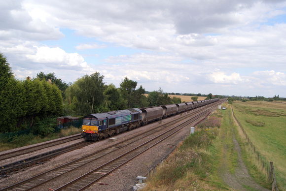 DRs Class 66 66413 near Colton Junction York.14/08/12