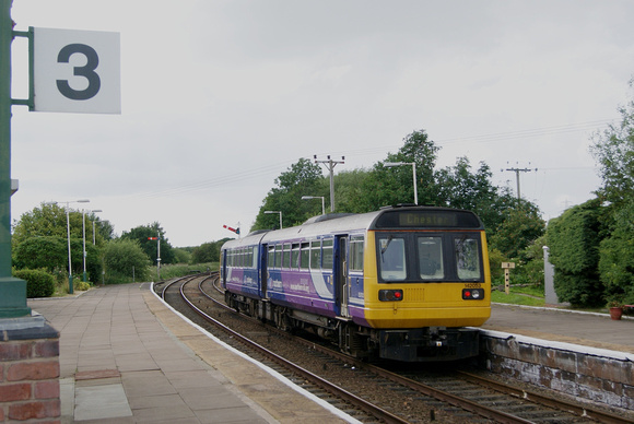 'Pacer' unit used on the early morning and afternoon services between Helsby and Hooton.06.07.11