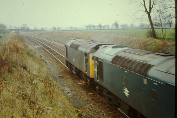 A pair of Class 25s on a special working between Wrexham and Chester when that line was still double track.