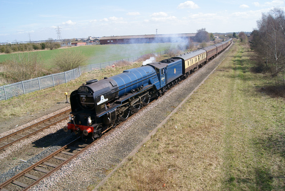 60163 'tornado' at Saltney on the 'Cathedrals Express' 20/04/13