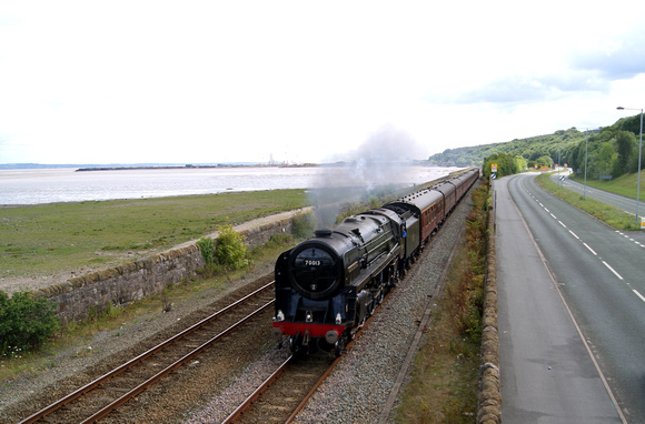 70013 'Oliver Cromwell' near Mostyn, North Wales coast, Summer 2011
