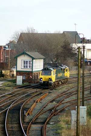 70004 in the yard at Warrington Low Level.08/02/12