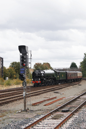 60163 Tornado on 'The Cathedrals Express' at Chester 10/09/2011