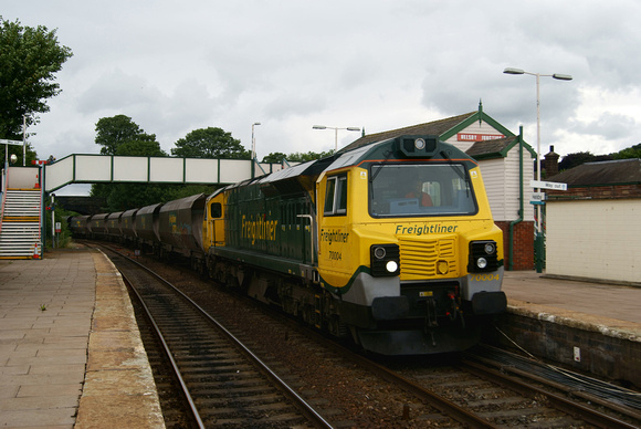 70004 at Helsby 28th July 2011