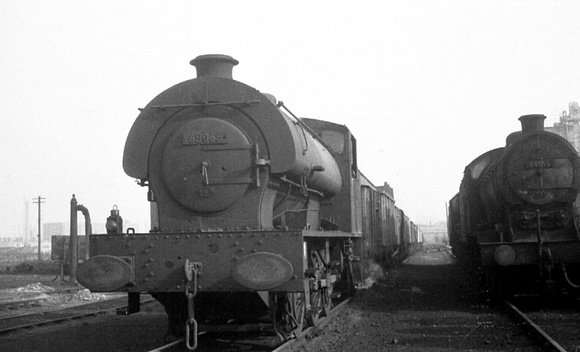 Ex LNER J94 0-6-0ST 68066 and J39 0-6-0 64955 at Bidston shed 1961