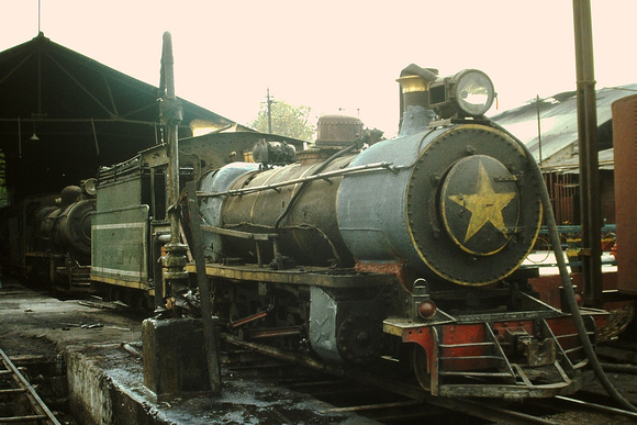 NH/3 class 2-8-2 on Gwalior shed.1983