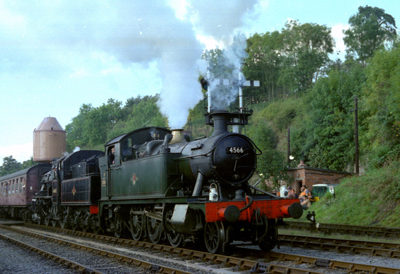 Ex GWR 2-6-2T 4566 with ex LMS 2-6-0 46443 at Bewdley