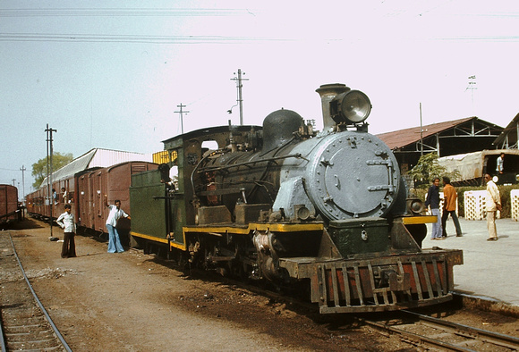NM class 4-6-2 608 built by William Bagnall in 1931. Gwalior 1983