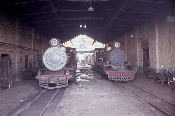 Inside the shed at Gwalior 1983