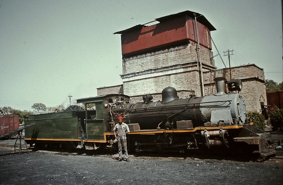 NM pacific 608 at the service point in Gwalior yard.1983
