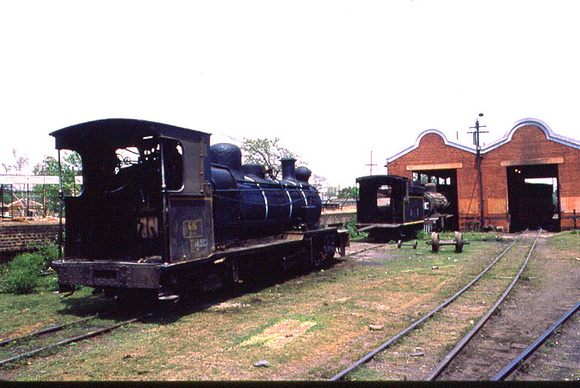 Loco shed at Ranchi terminus of the line to Lohardia
