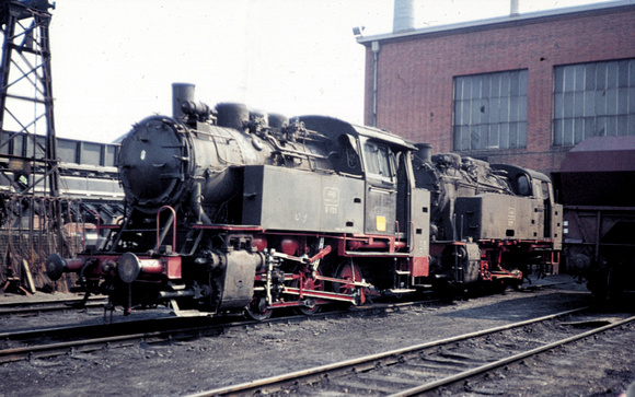 D725 - Hohenzollern built 0-6-0 tank of 1929 at the loco shed