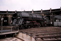 Coal fired pacific 01-1506 at Bw Berlin Schonewiede