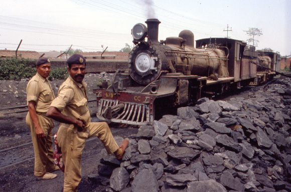CC class pacific by the coal stack at Ranchi