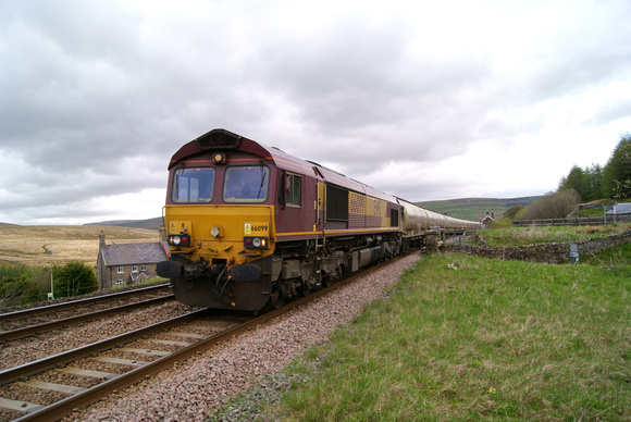 66099 on Clitheroe bound ement wagons. Garsdale 22/05/13